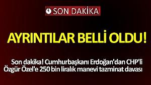 Son dakika! Cumhurbaşkanı Erdoğan'dan CHP'li Özgür Özel'e 250 bin liralık manevi tazminat davası