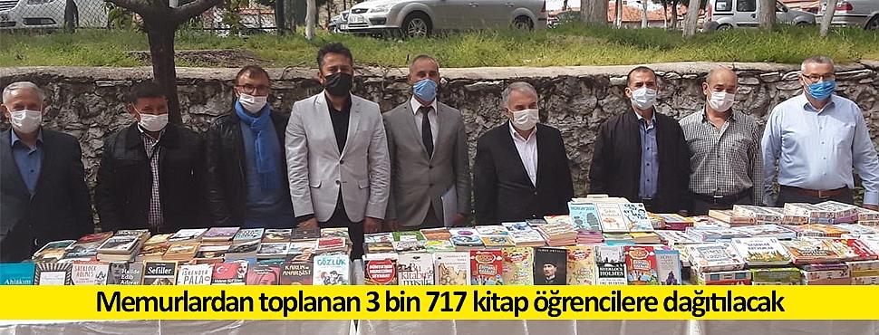 Memurlardan toplanan 3 bin 717 kitap öğrencilere dağıtılacak