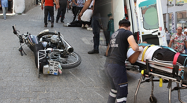 Motosikletten savrulan 2 kişi yaralandı