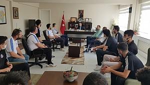 Jeopark Kula Belediyespor'dan Kaymakam Duru'ya ziyaret