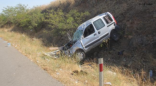 Kontrolden çıkan otomobil şarampole devrildi; 2 ağır yaralı