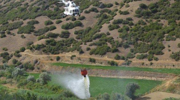 Kula'da Makilik Alanda Yangın