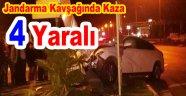 Jandarma Kavşağında Kaza: 4 Yaralı
